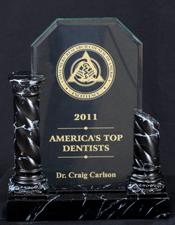 2011 America's Top Dentists award for Dr. Craig Carlson