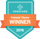 2016 Patients' Choice Winner badge from Opencare.com