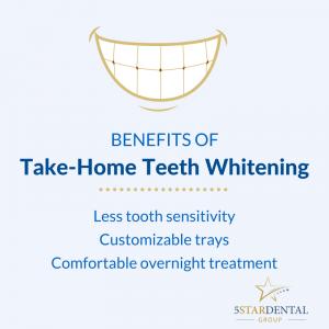 Take-home teeth whitening has many benefits | 5 Star Dental Group | San Antonio