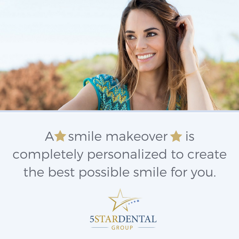 Smile makeovers are highly personalized just for you | 5 Star Dental Group