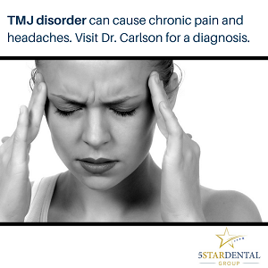 TMJ disorder can cause headaches and chronic pain