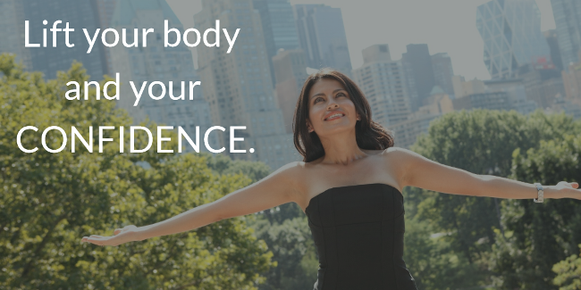 graphic explaining body confidence benefits of post-weight loss surgery