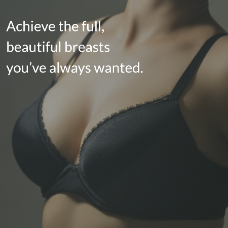 graphic explaining benefits of breast augmentation
