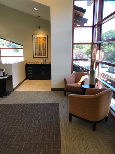 Seating Area at Altos Oaks Plastic Surgery in Los Altos, CA