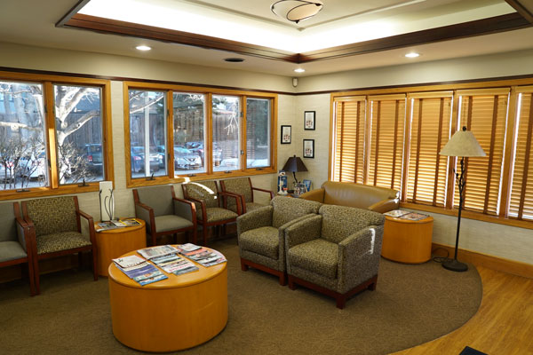 Patient Reception Area - Aspenwood Dental Associates - Denver, CO