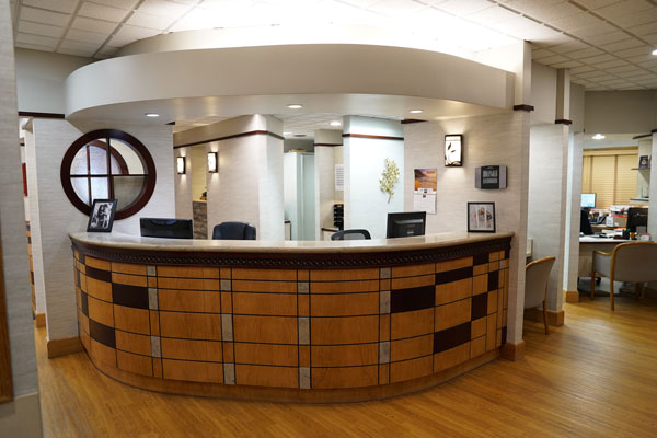Reception Desk - Aspenwood Dental Associates & Colorado Dental Implant Center - Aurora, CO