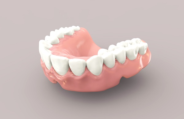 Illustration of a lower denture