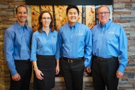 Dr. Zeppelin, Dr. Augustine, Dr. Sun, Dr. Yaros - dentists at Aspenwood Dental Associates