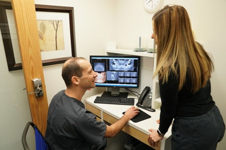 digital dental X-rays at Aspenwood Dental Associates and Colorado Dental Implant Center