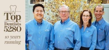 Portrait of the dentists at Aspenwood Dental Associates Colorado Dental Implant Center