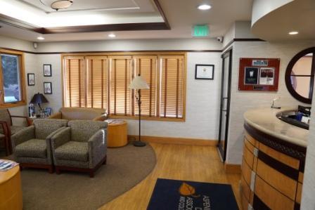 reception area of Aspenwood Dental Associates and Colorado Dental Implant Center