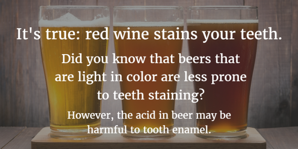 Teeth staining beverages
