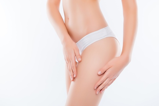 thighs - potential CoolSculpting treatment site for women and men