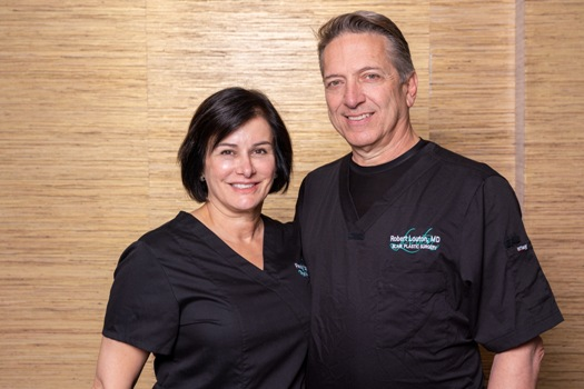 Dr. Fanny Louton and Dr. Robert Louton perform facial plastic surgery and non-surgical cosmetic treatments