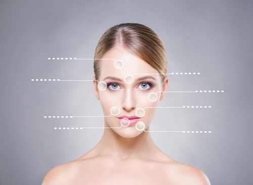 areas of the face for dermal filler and injectable treatment