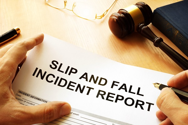 Man Filing Slip and Fall Claim