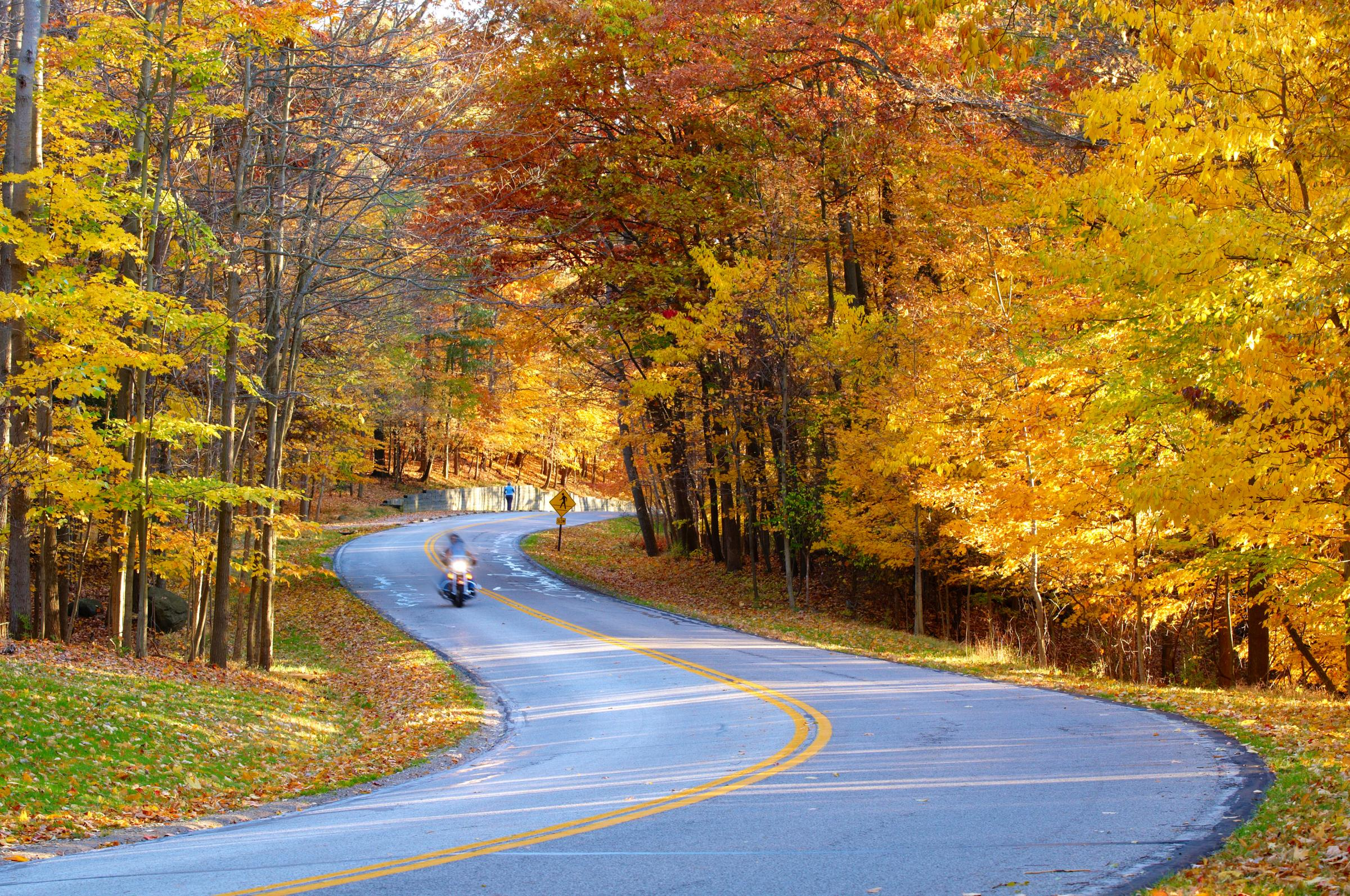 motorcycle ride in autumn