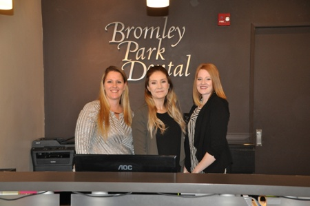 front desk team at Bromley Park Dental