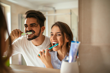 Brighton, Colorado couple brush teeth to have brighter smiles.