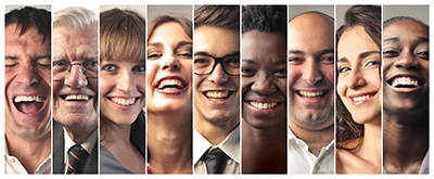 Group of smiling patients at Bromley Park Dental in Brighton