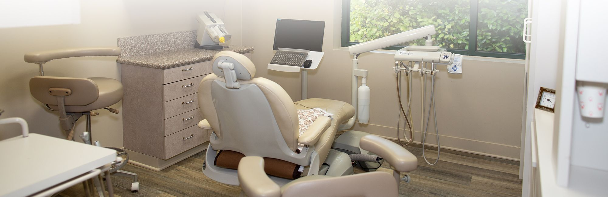 The dentist chair at Contemporary Dental Health