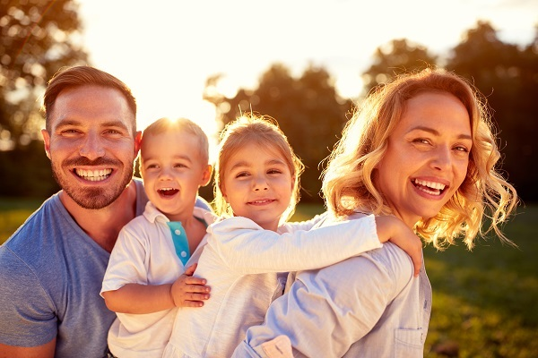 Family with Delta Dental Insurance