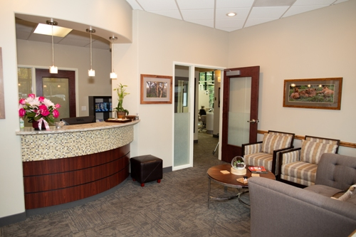 reception area at Contemporary Dental Health