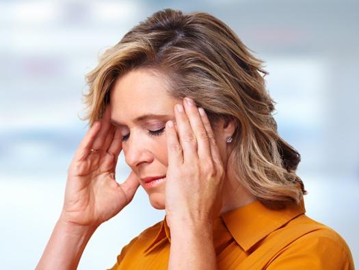 woman with TMJ headache