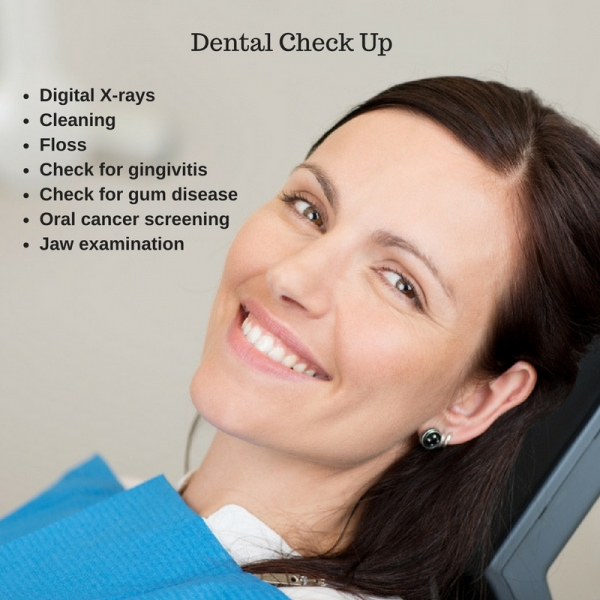 dental cleaning and exam checklist