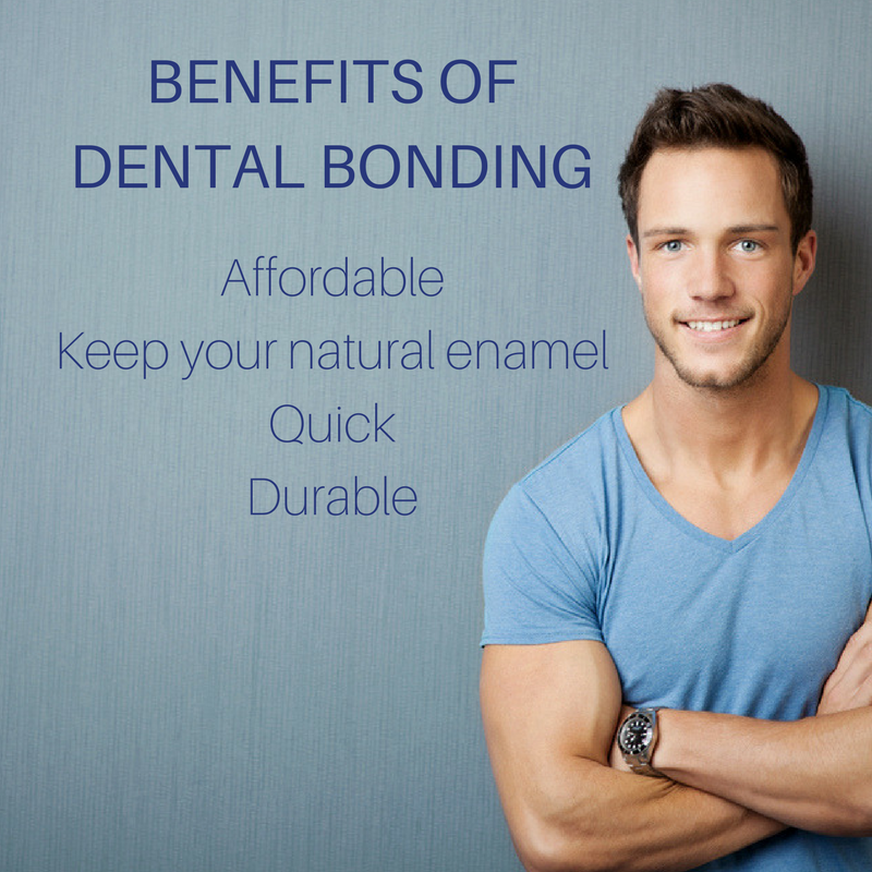 graphic describing the benefits of dental bonding