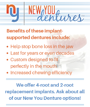 image describing the placement options and benefits of New You Dentures