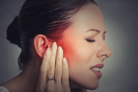 chronic TMJ pain emanating from cheek