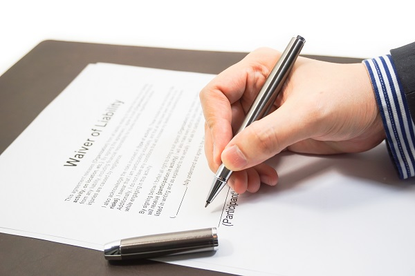 Signing Liability Waiver