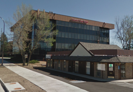 Frickey Law Firm office building - view from Wadsworth Boulevard in Lakewood, Colorado