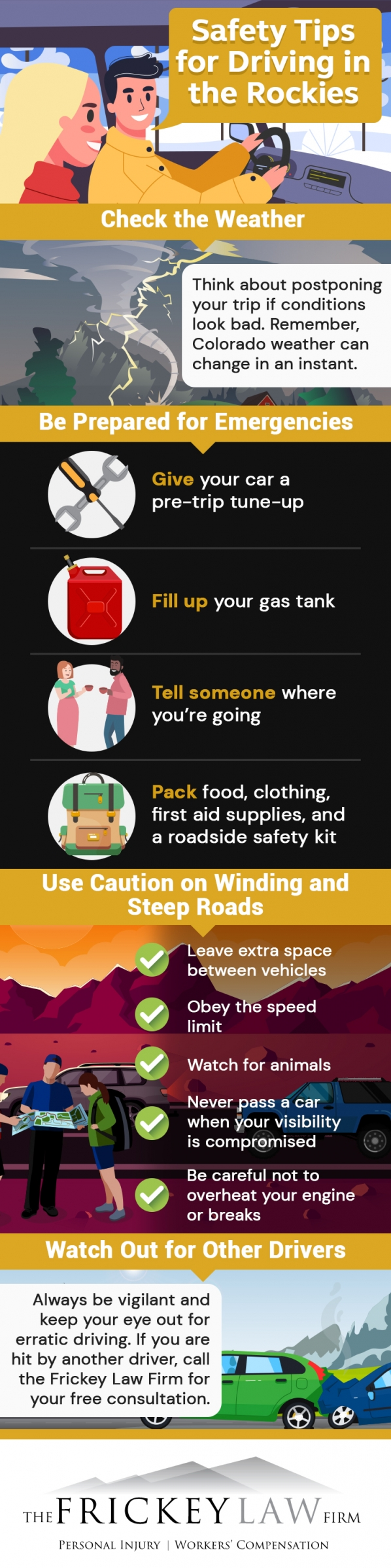 Mountain driving safety infographic