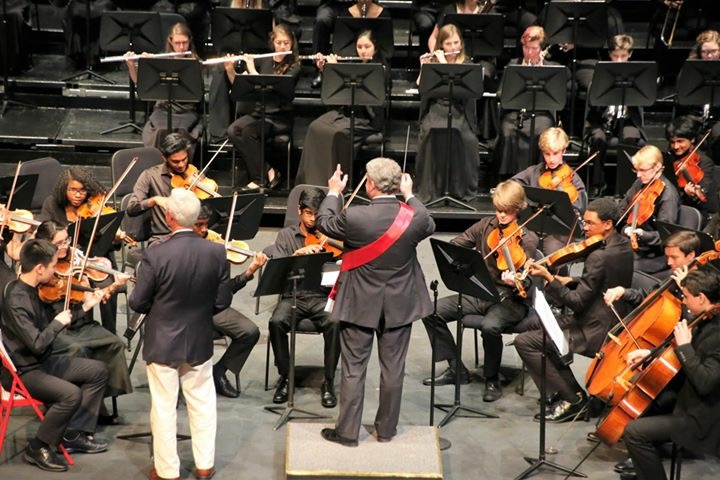 Gary Bruce During The Youth Orchestra of Greater Columbus' Maestro for a Moment Event
