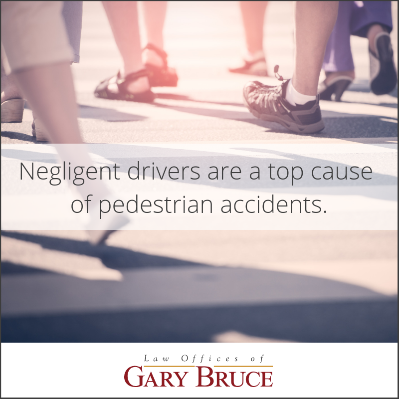 Negligent drivers are a top cause of pedestrian accidents | Gary Bruce Law Office
