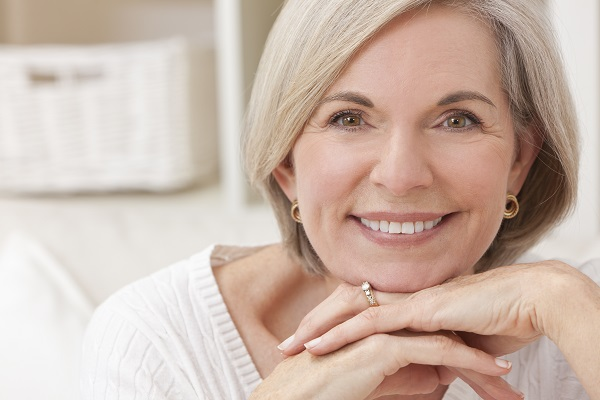 Older Woman After Facial Plastic Surgery and Non-Surgical Facial Rejuvenation