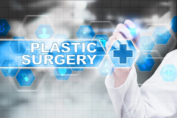 Plastic surgery written on a digital screen