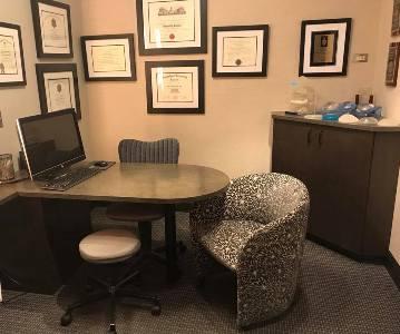 consultation room at Grossman | Capraro Plastic Surgery - Denver, Colorado