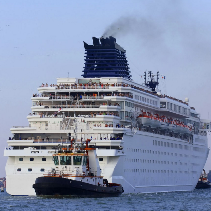 cruise ship on the water
