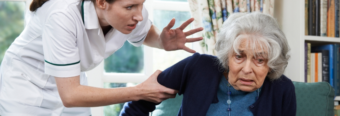 Nursing home abuse happening to an elderly woman