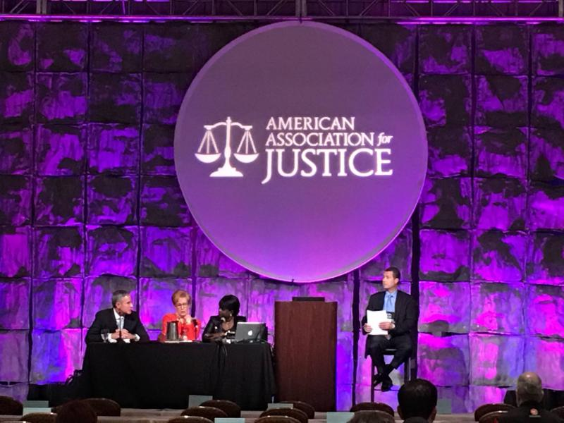 American Association for Justice panel with Jack Hickey