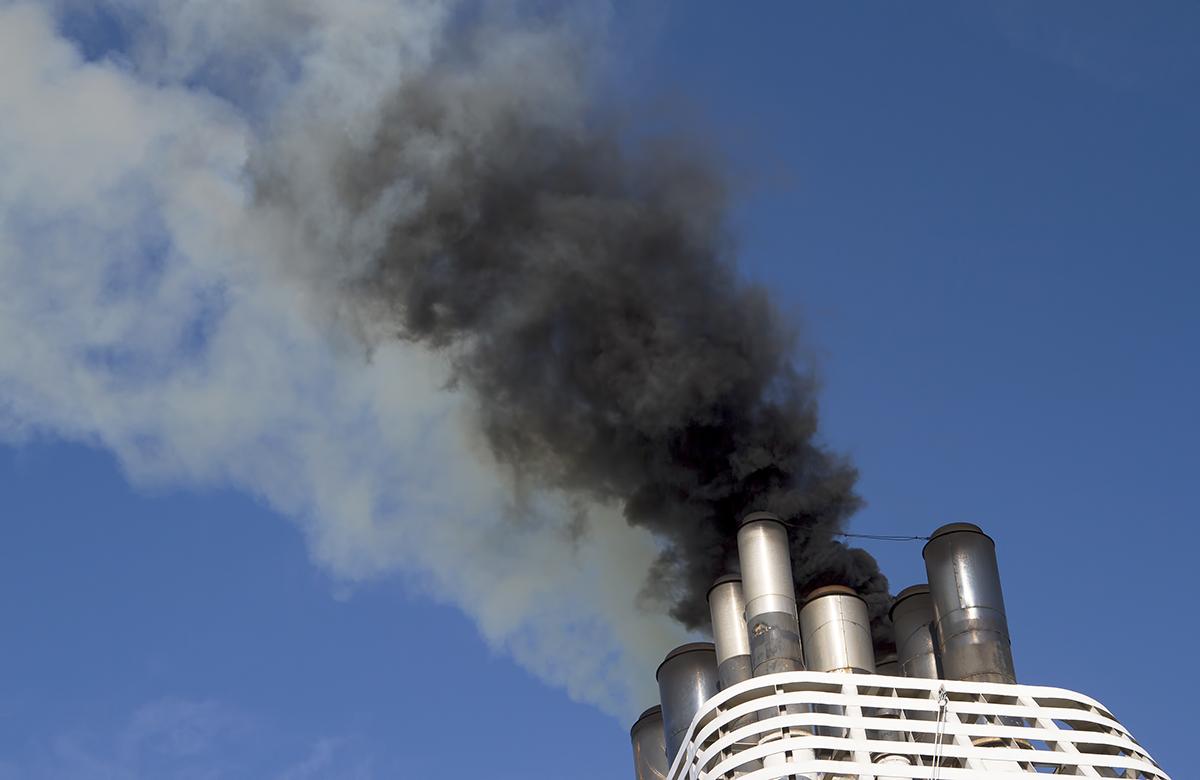 Smoke billows out of a cruise ship fire in Miami, Florida