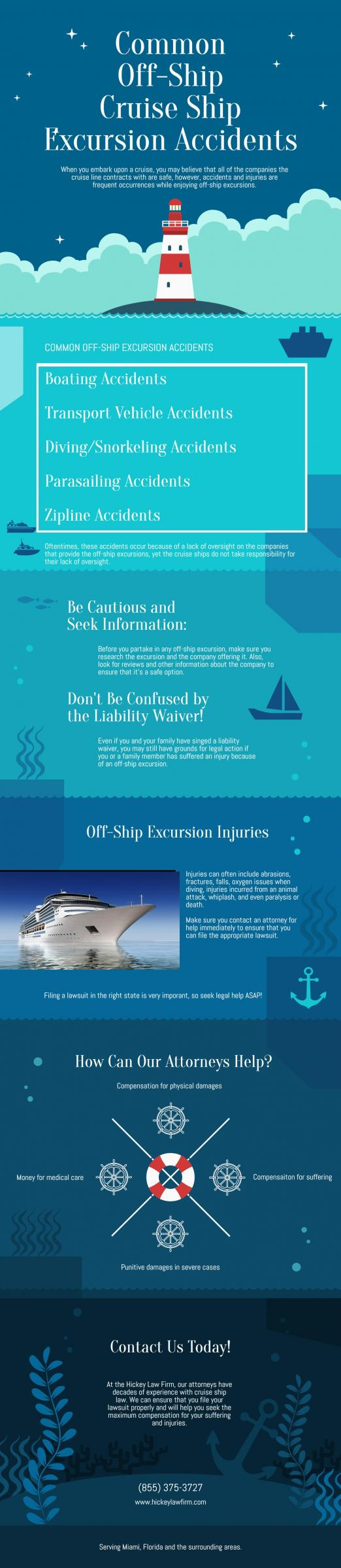 Infographic: Common Off-Ship Cruise Ship Excursion Accidents | Hickey Law Firm, P.A.