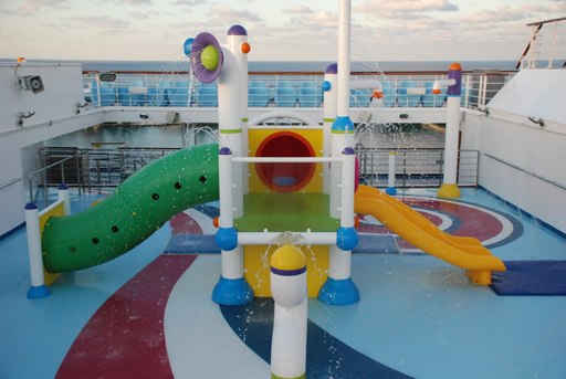 waterpark on a cruise ship