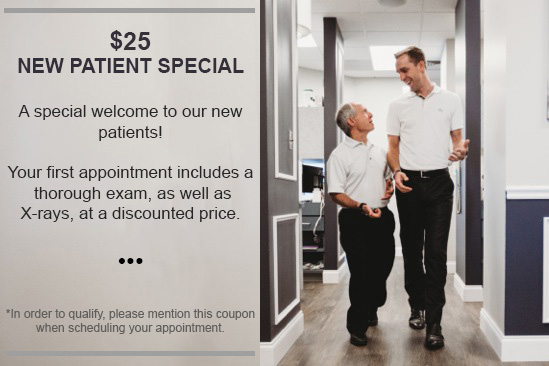 image highlighting $25 new patient special