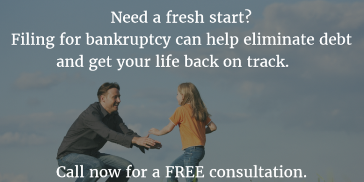 Image explaining possible benefits of filing for bankruptcy