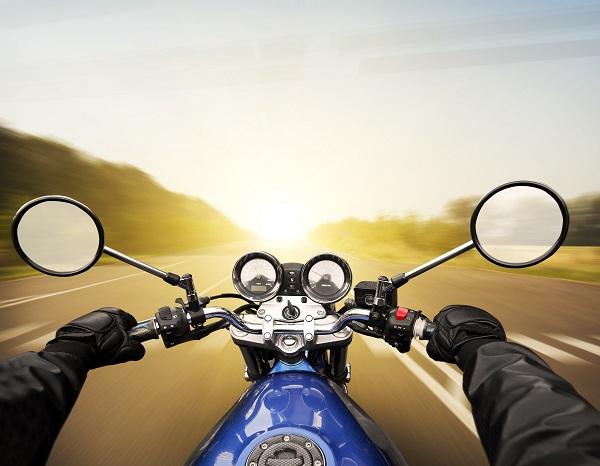 Motorcyclist driving in Kentucky