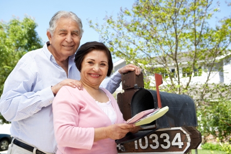 old couple get the mail